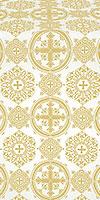 Carpathian silk (rayon brocade) (white/gold)