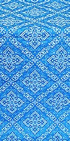 Simeonov silk (rayon brocade) (blue/silver)