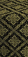 Simeonov silk (rayon brocade) (black/gold)
