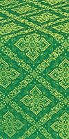 Simeonov silk (rayon brocade) (green/gold)
