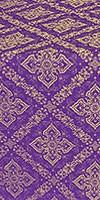Simeonov silk (rayon brocade) (violet/gold)