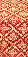 Simeonov silk (rayon brocade) (red/gold)