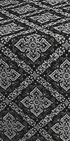 Simeonov silk (rayon brocade) (black/silver)