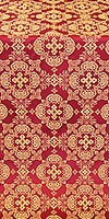 Kolomna posad silk (rayon brocade) (claret/gold)