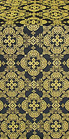 Kolomna posad silk (rayon brocade) (black/gold)