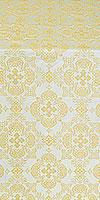 Kolomna posad silk (rayon brocade) (white/gold)