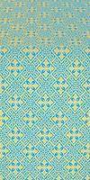 Stone Flower silk (rayon brocade) (blue/gold)