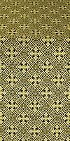 Stone Flower silk (rayon brocade) (black/gold)