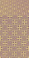 Stone Flower metallic brocade (violet/gold)