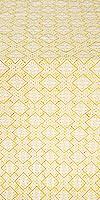 Stone Flower silk (rayon brocade) (white/gold)