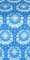 Nativity Star silk (rayon brocade) (blue/silver)