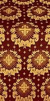 Nativity Star silk (rayon brocade) (claret/gold)