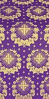 Nativity Star silk (rayon brocade) (violet/gold)