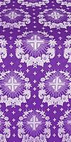 Nativity Star silk (rayon brocade) (violet/silver)