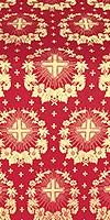 Nativity Star metallic brocade (red/gold)