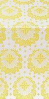 Nativity Star silk (rayon brocade) (white/gold)