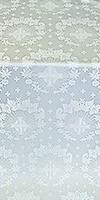 Nativity Star silk (rayon brocade) (white/silver)