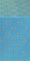 Jerusalem Cross silk (rayon brocade) (blue/gold)