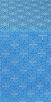 Jerusalem Cross silk (rayon brocade) (blue/silver)