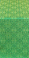 Jerusalem Cross silk (rayon brocade) (green/gold)
