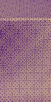 Jerusalem Cross silk (rayon brocade) (violet/gold)