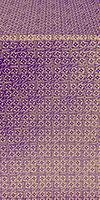 Jerusalem Cross metallic brocade (violet/gold)
