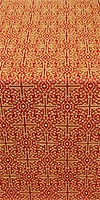 Jerusalem Cross silk (rayon brocade) (red/gold)
