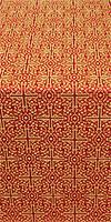 Jerusalem Cross metallic brocade (red/gold)