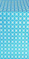 Snowflake silk (rayon brocade) (blue/gold)
