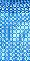 Snowflake silk (rayon brocade) (blue/silver)