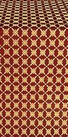 Snowflake silk (rayon brocade) (claret/gold)