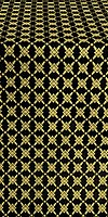 Snowflake silk (rayon brocade) (black/gold)