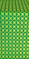Snowflake silk (rayon brocade) (green/gold)