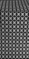 Snowflake silk (rayon brocade) (black/silver)