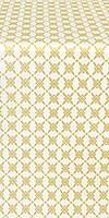 Snowflake silk (rayon brocade) (white/gold)