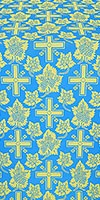 Ajur Cross metallic brocade (blue/gold)