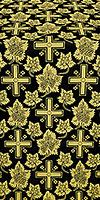 Ajur Cross silk (rayon brocade) (black/gold)