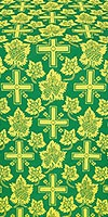 Ajur Cross silk (rayon brocade) (green/gold)