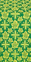 Ajur Cross metallic brocade (green/gold)
