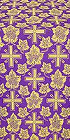 Ajur Cross silk (rayon brocade) (violet/gold)