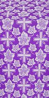 Ajur Cross silk (rayon brocade) (violet/silver)