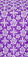 Ajur Cross metallic brocade (violet/silver)
