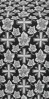Ajur Cross silk (rayon brocade) (black/silver)