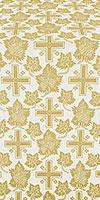 Ajur Cross silk (rayon brocade) (white/gold)