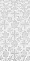 Ajur Cross silk (rayon brocade) (white/silver)