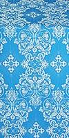 Sloutsk metallic brocade (blue/silver)