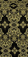 Sloutsk silk (rayon brocade) (black/gold)