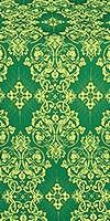 Sloutsk silk (rayon brocade) (green/gold)