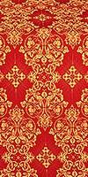 Sloutsk metallic brocade (red/gold)