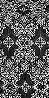 Sloutsk metallic brocade (black/silver)